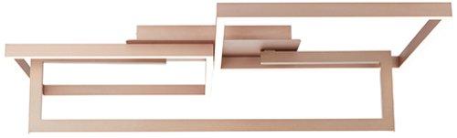 Deckenleuchte, 1-flammig B85,3 H21,5 T71,8, Braun