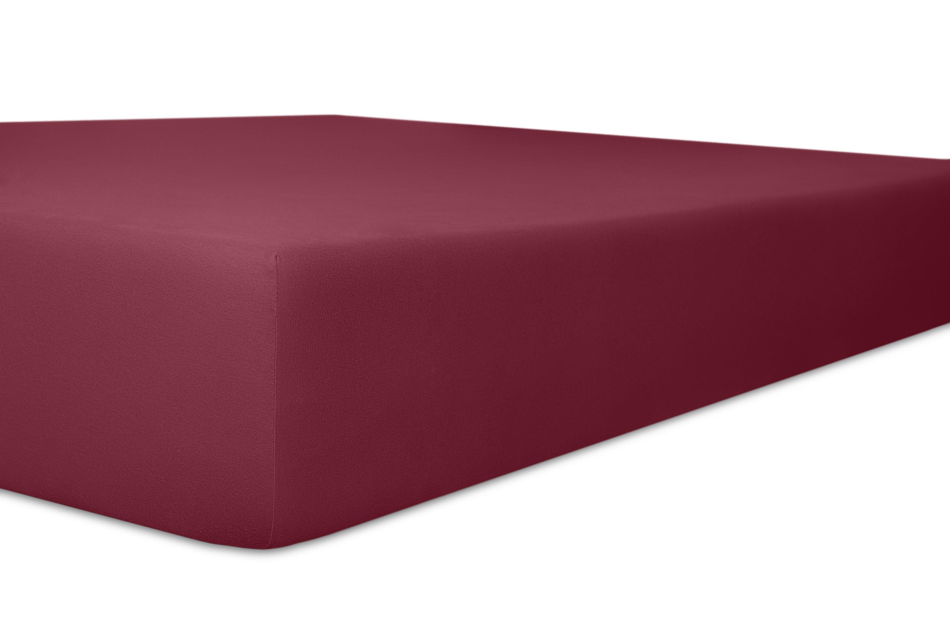 Spannbetttuch burgund,180x200cm