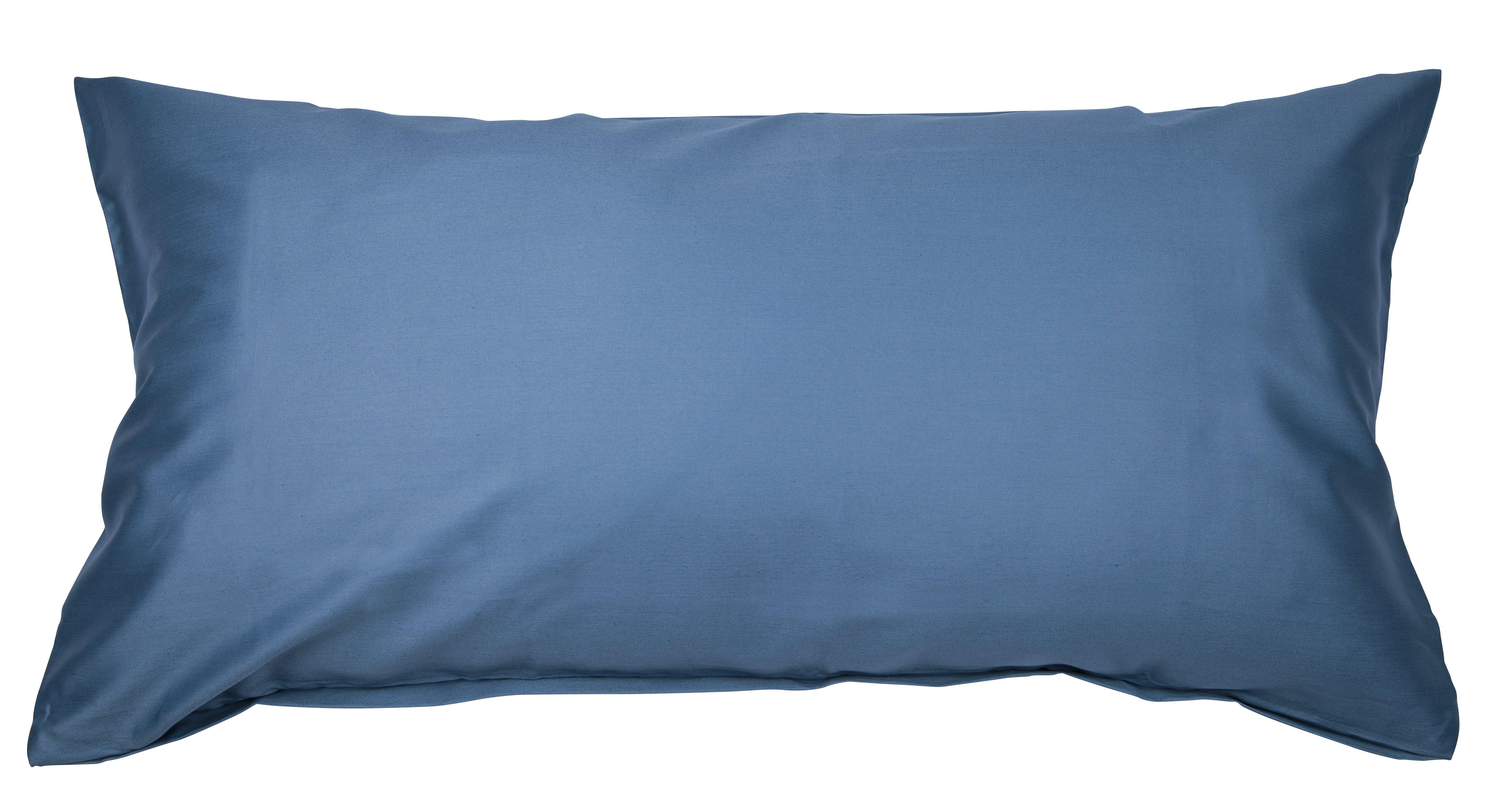 Colors Mako-Satin K.-Bezug 40x80cm jeansblau