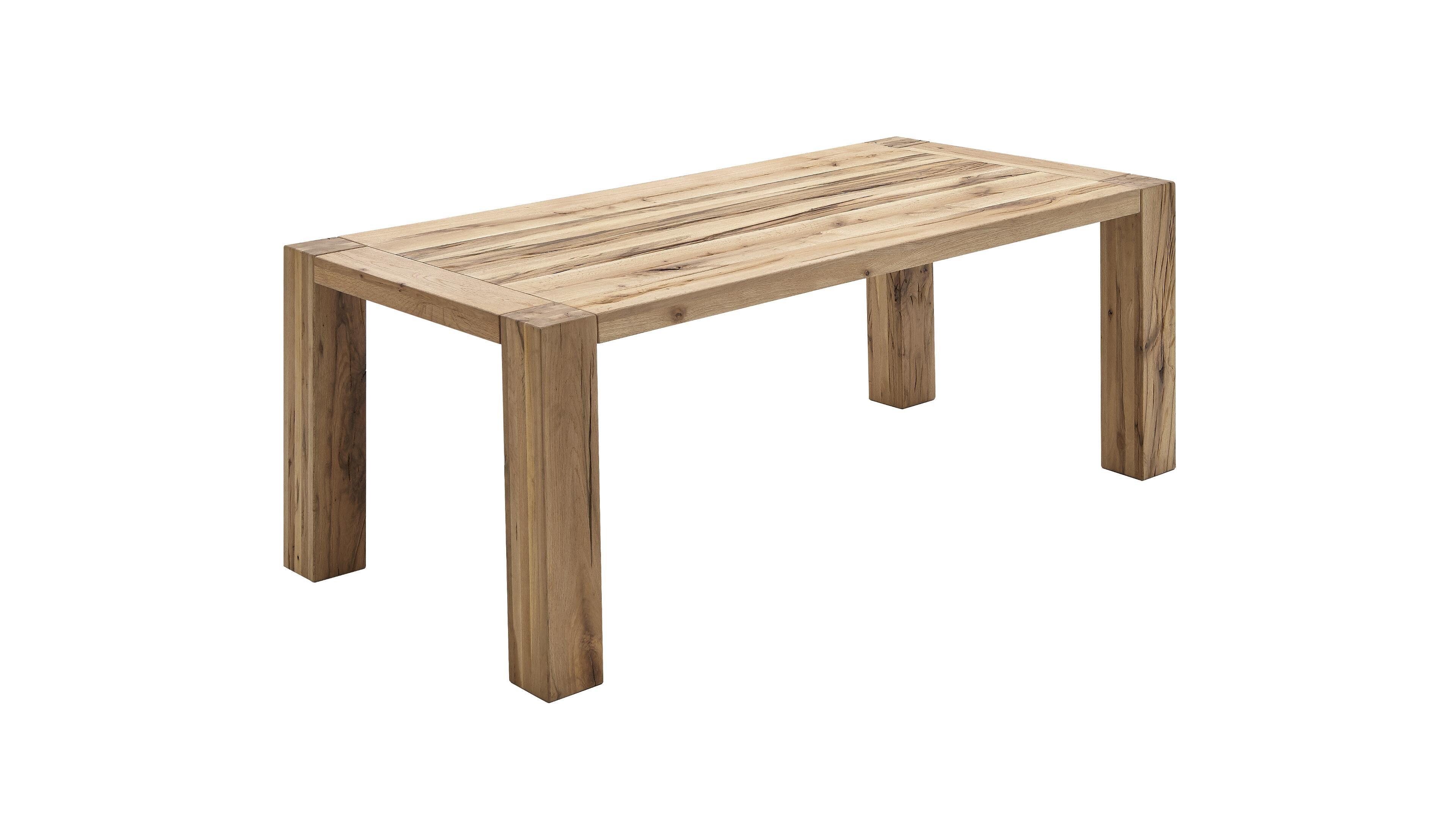 Tisch Vintage-Dining-Tische, Bank 5963 = Balkeneiche massiv