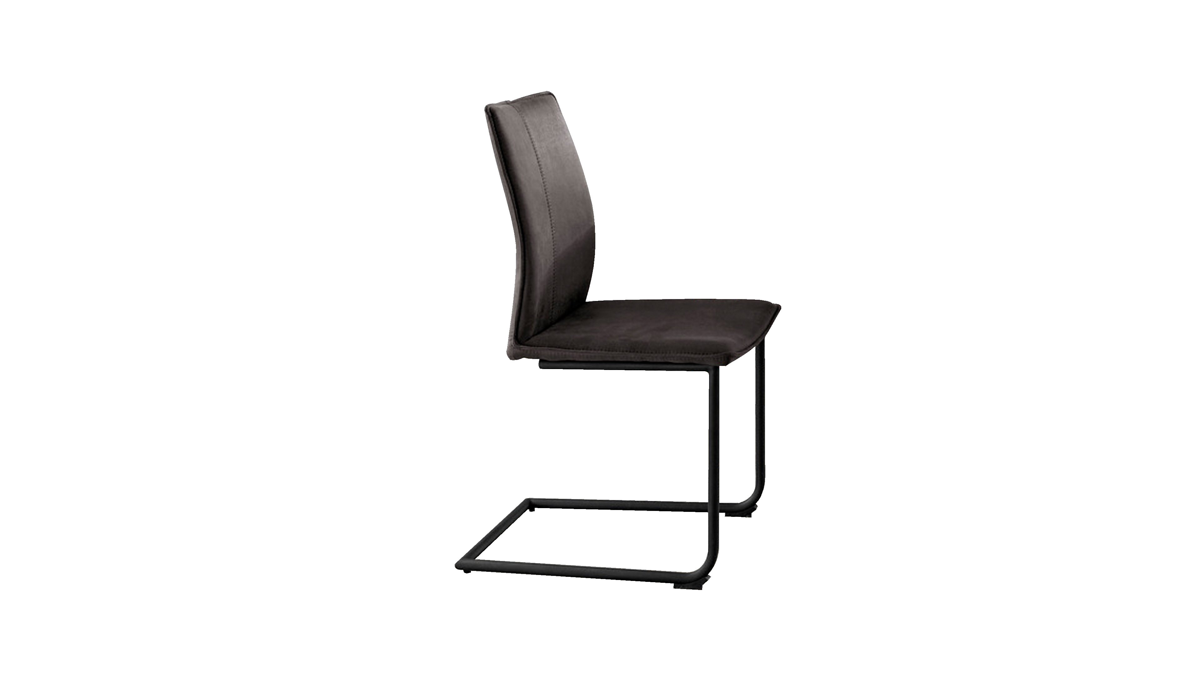 Stuhl Capri MetallEisen/Roheisen,Mikrofaser (Textilfaser)