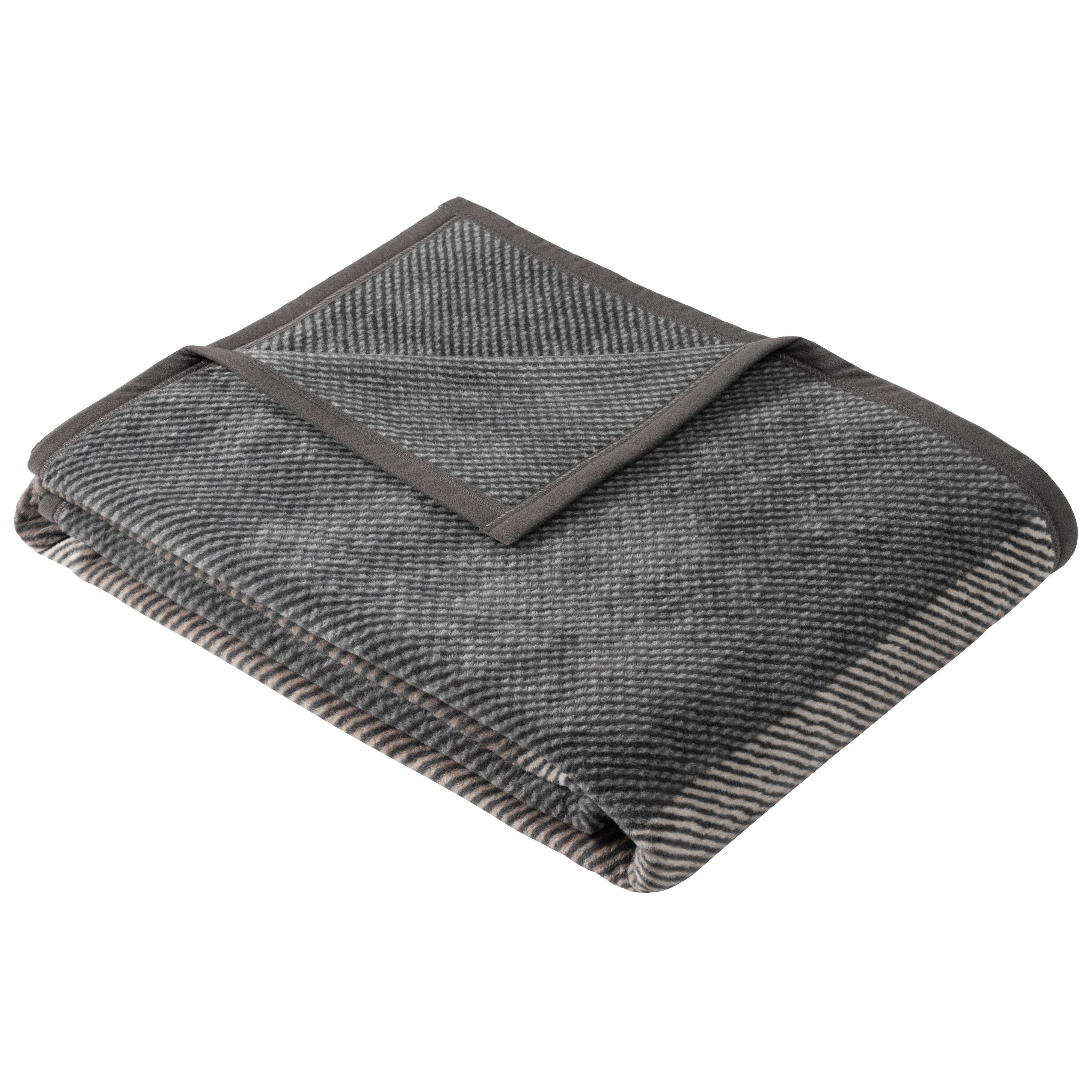 Jacquard Decke Vogar Grau-Braun 150x200 cm