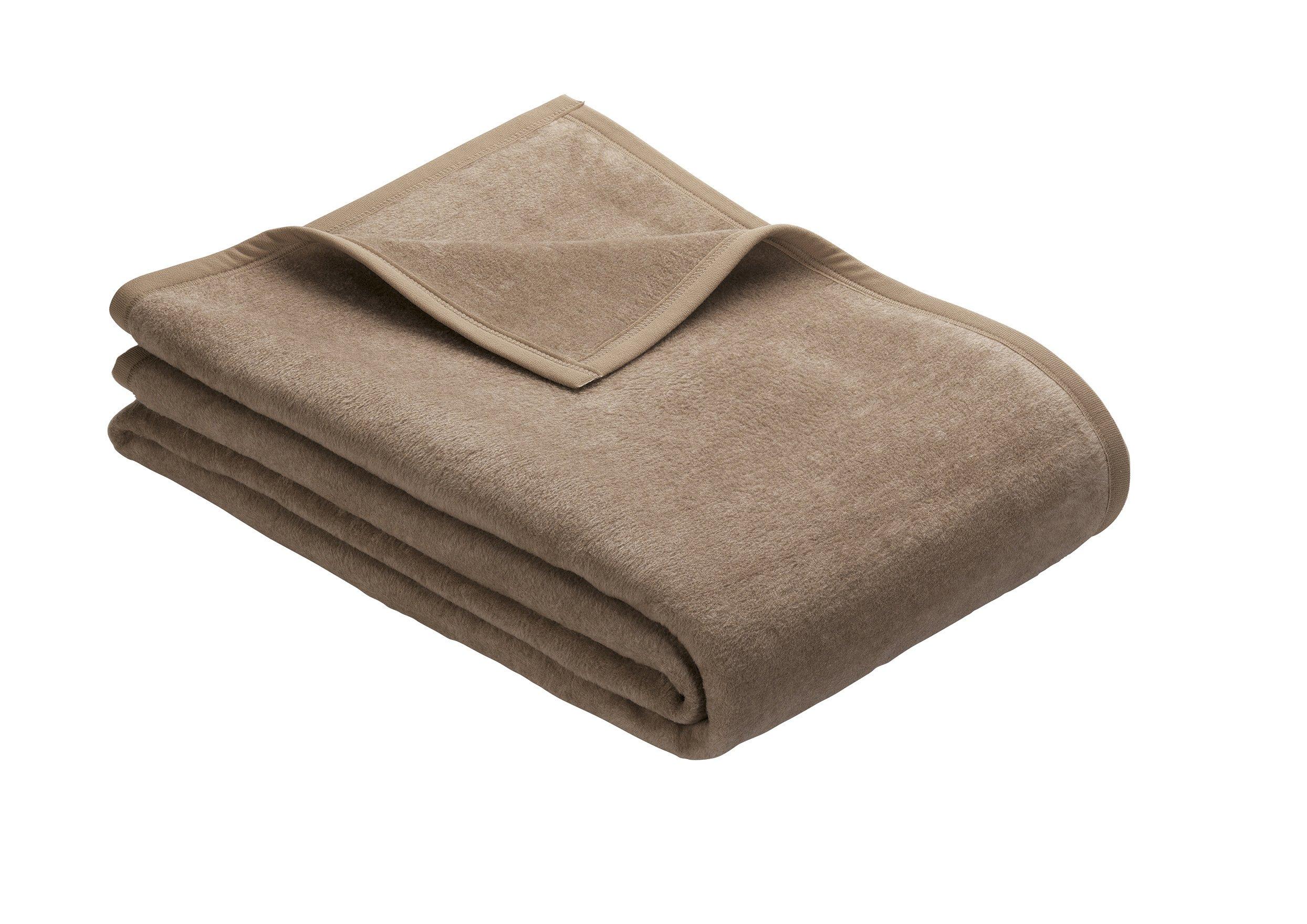 Uni Decke Porto Schlamm 150x200 cm