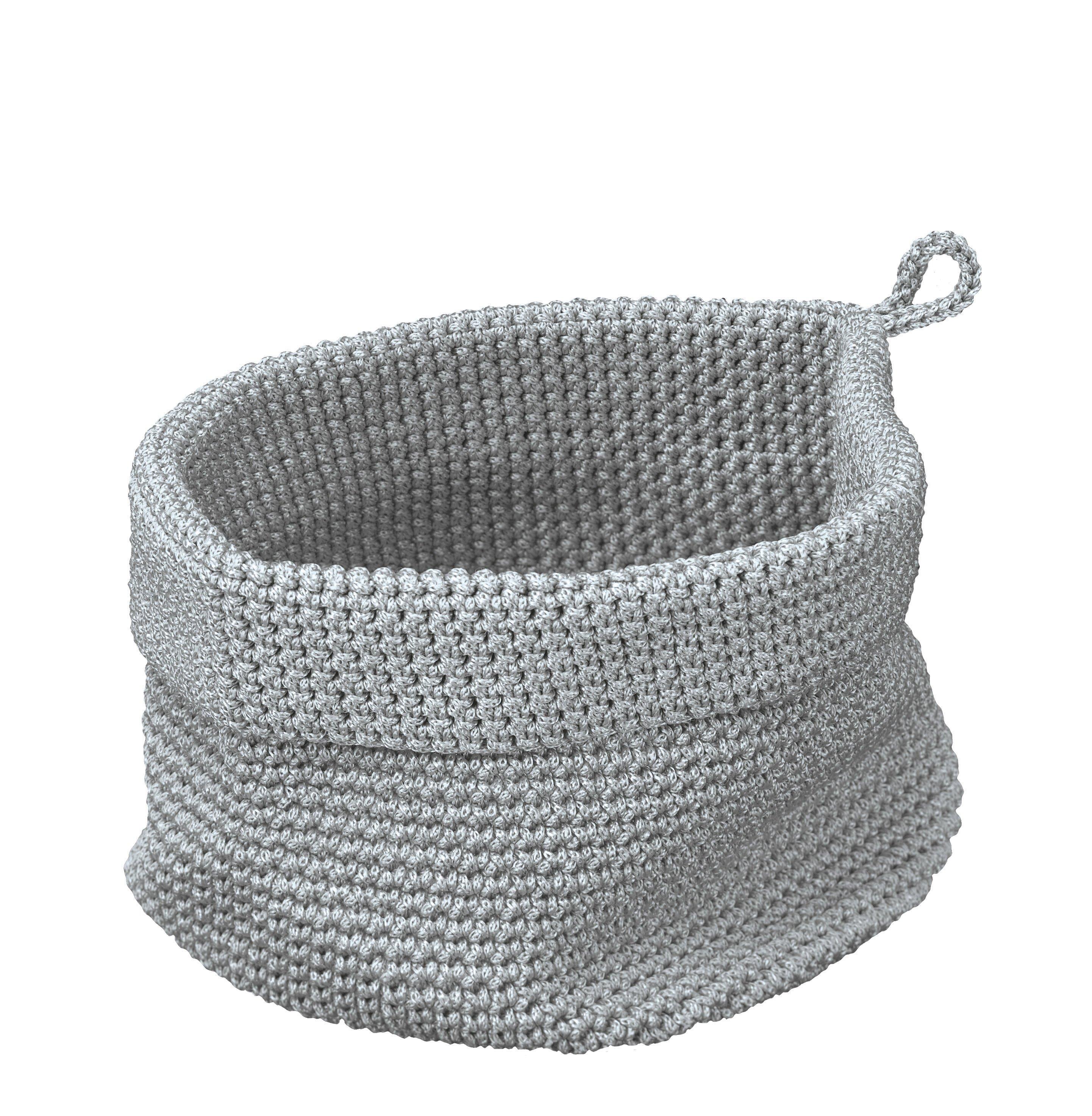 Korb Malvina Silbergrau B:23cm