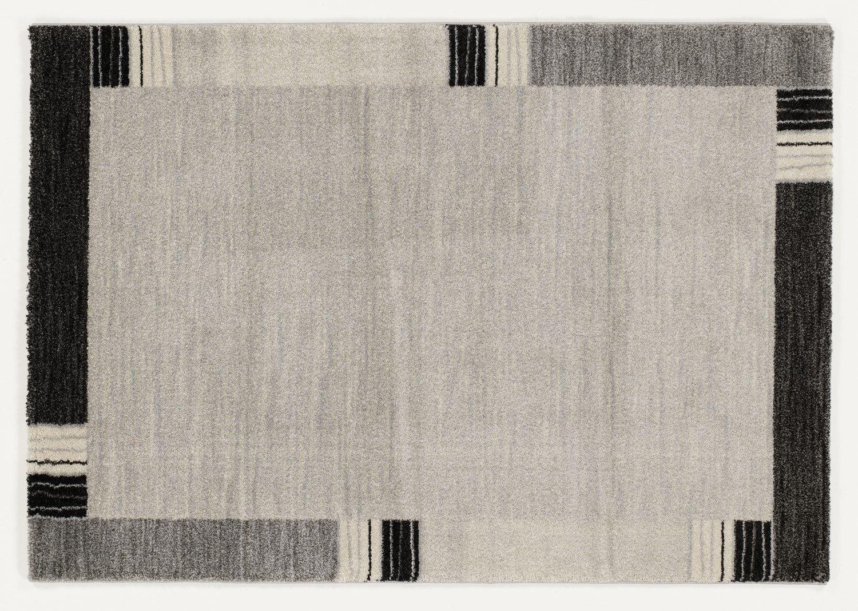 moderner Designer Teppich Öko-Tex CASTLE FLORA grau