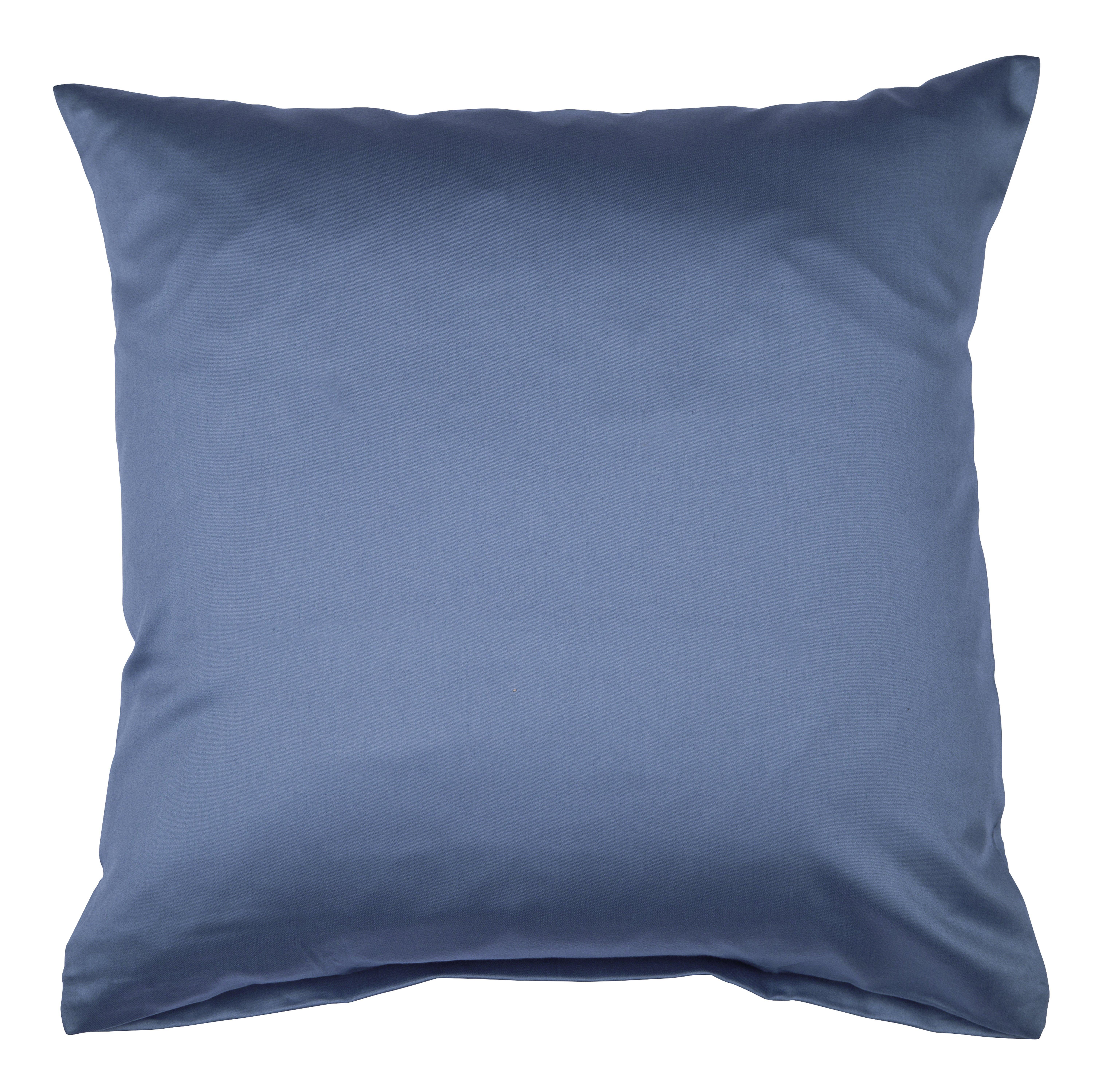 Colors Mako-Satin K.-Bezug 80x80cm jeansblau