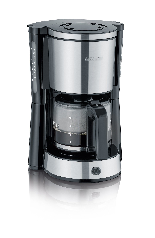 Kaffeeautomat Edelstahl-gebürstet-schwarz
