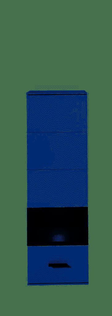 MEDIANA Hängevitr. m.Bel. weiß matt/graphit matt B/H/T ca. 40/125/36 cm