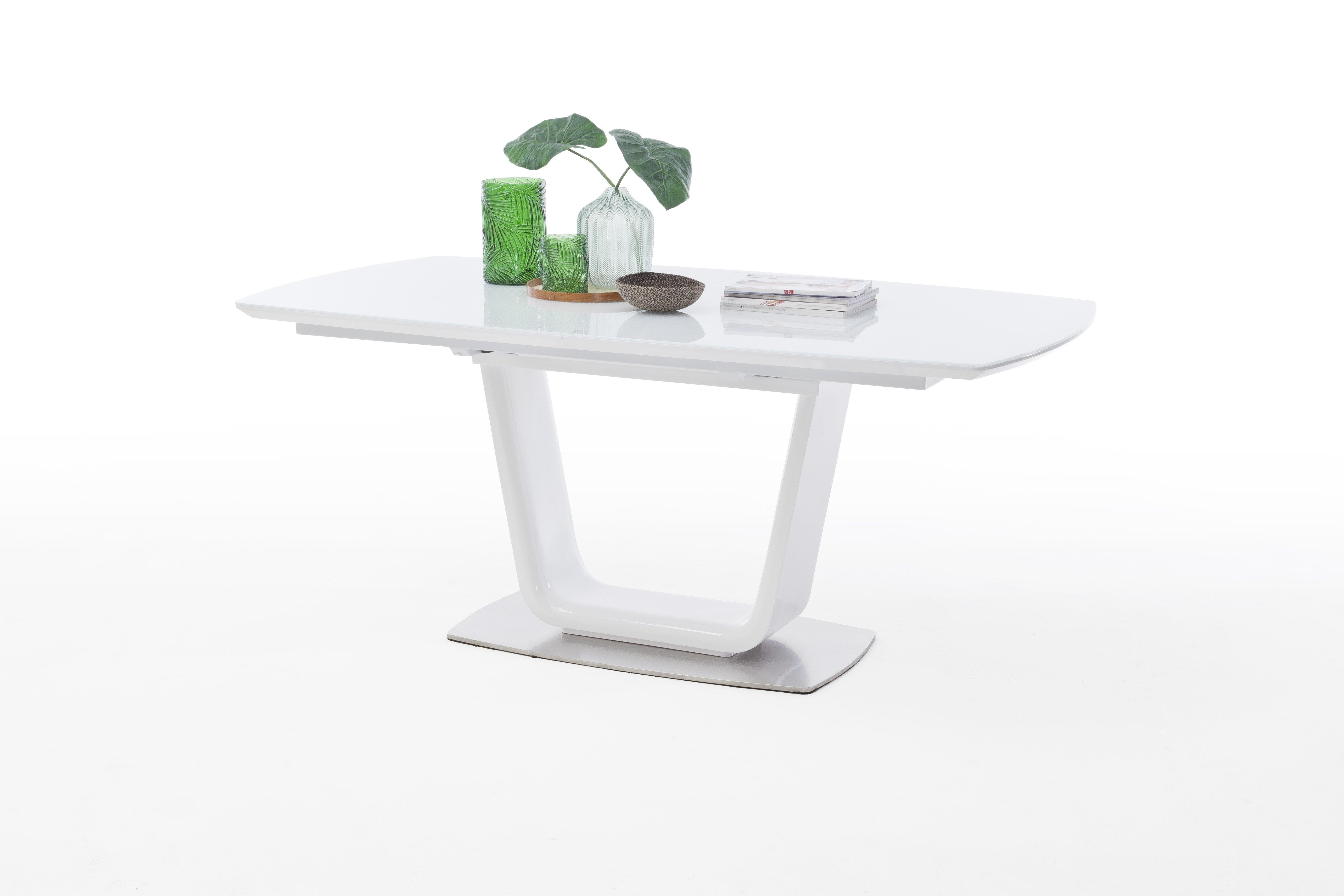 Tisch mit Säule, weiß