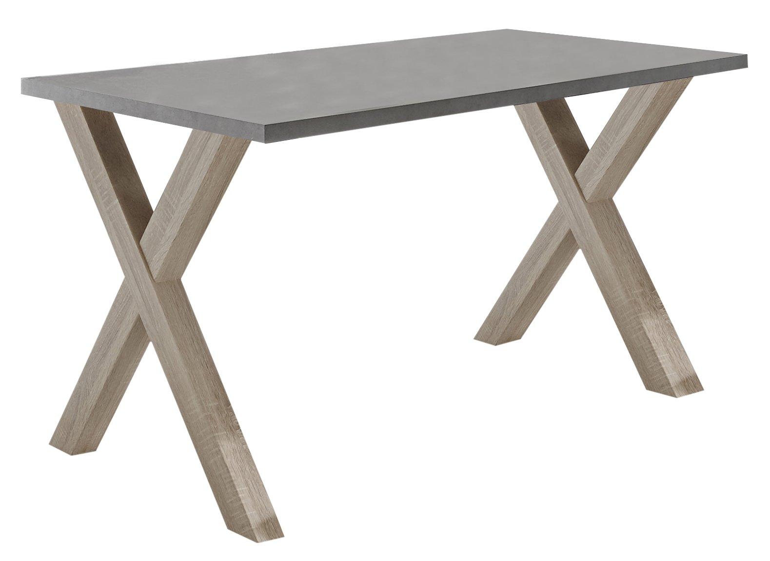 Schreibtisch eiche sägerau / graphit