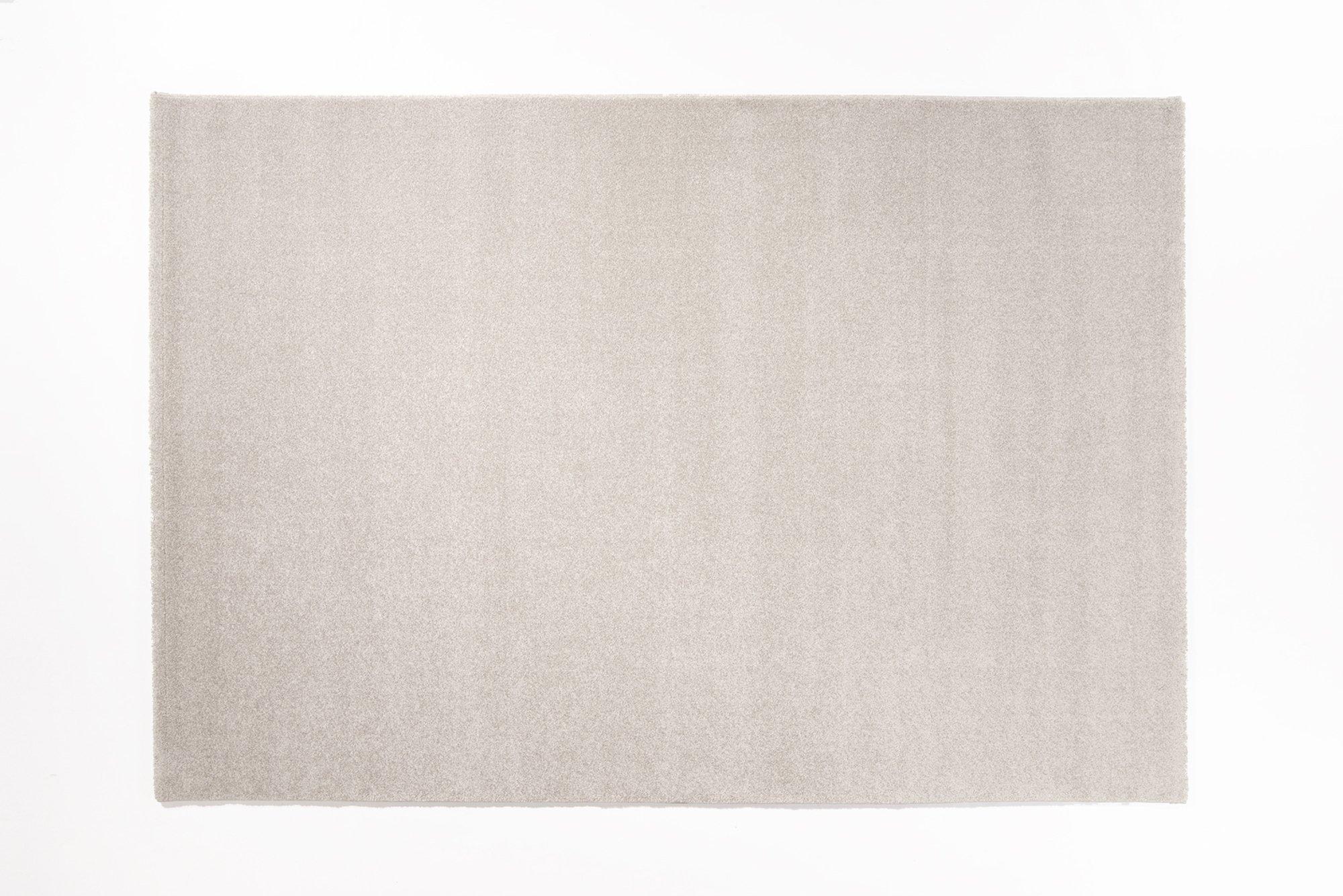 moderner Designer Teppich LOUVRE MELANGE silber