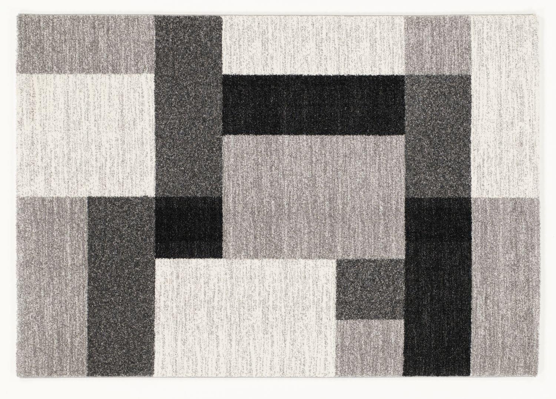 moderner Designer Teppich VILLA LIMA h.grau