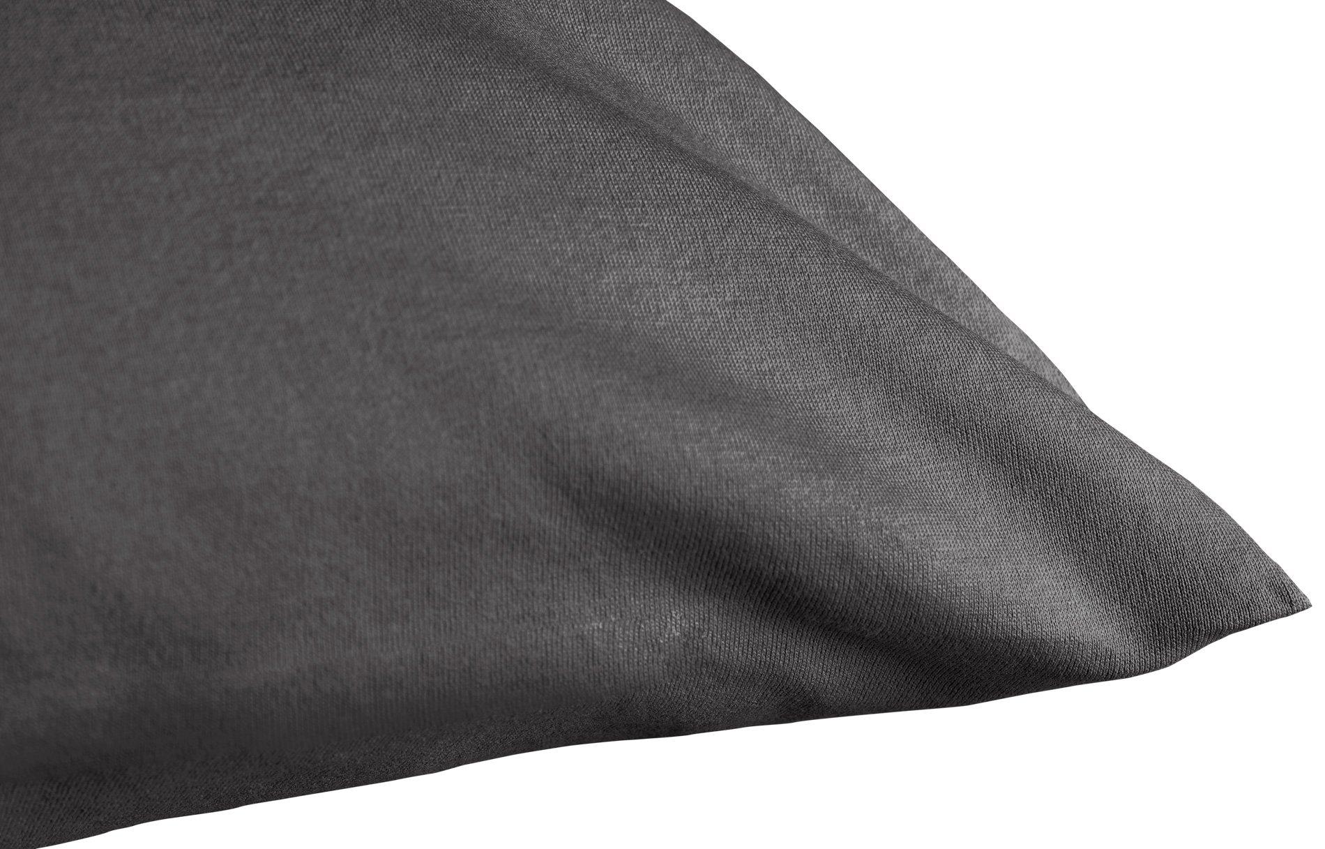 Edel-Zwirn-Jersey schiefer B40cm