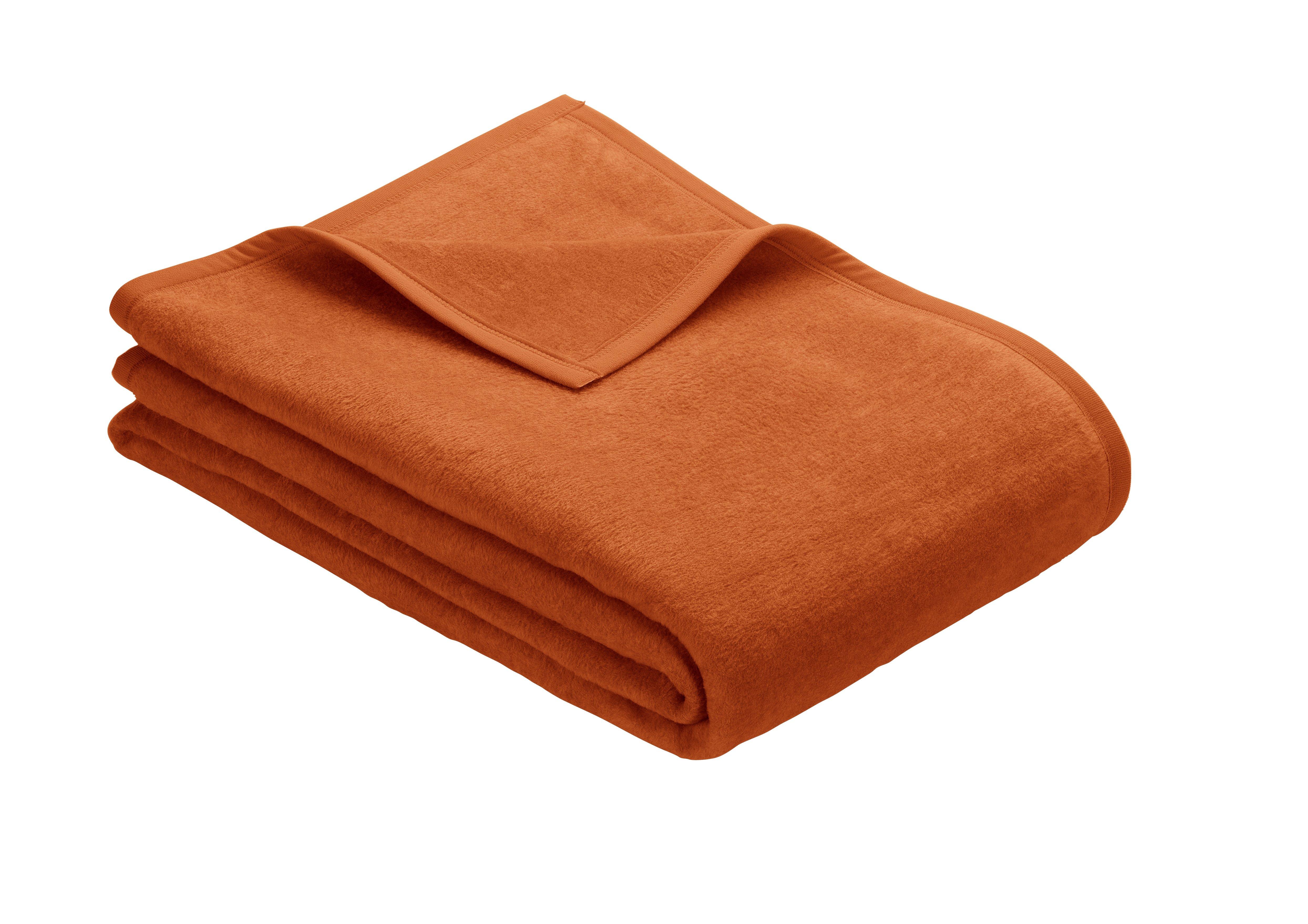 Uni Decke Porto Orange 150x200 cm