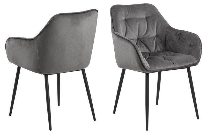 Brooke Stühle mit Armlehne, matt schwarz,