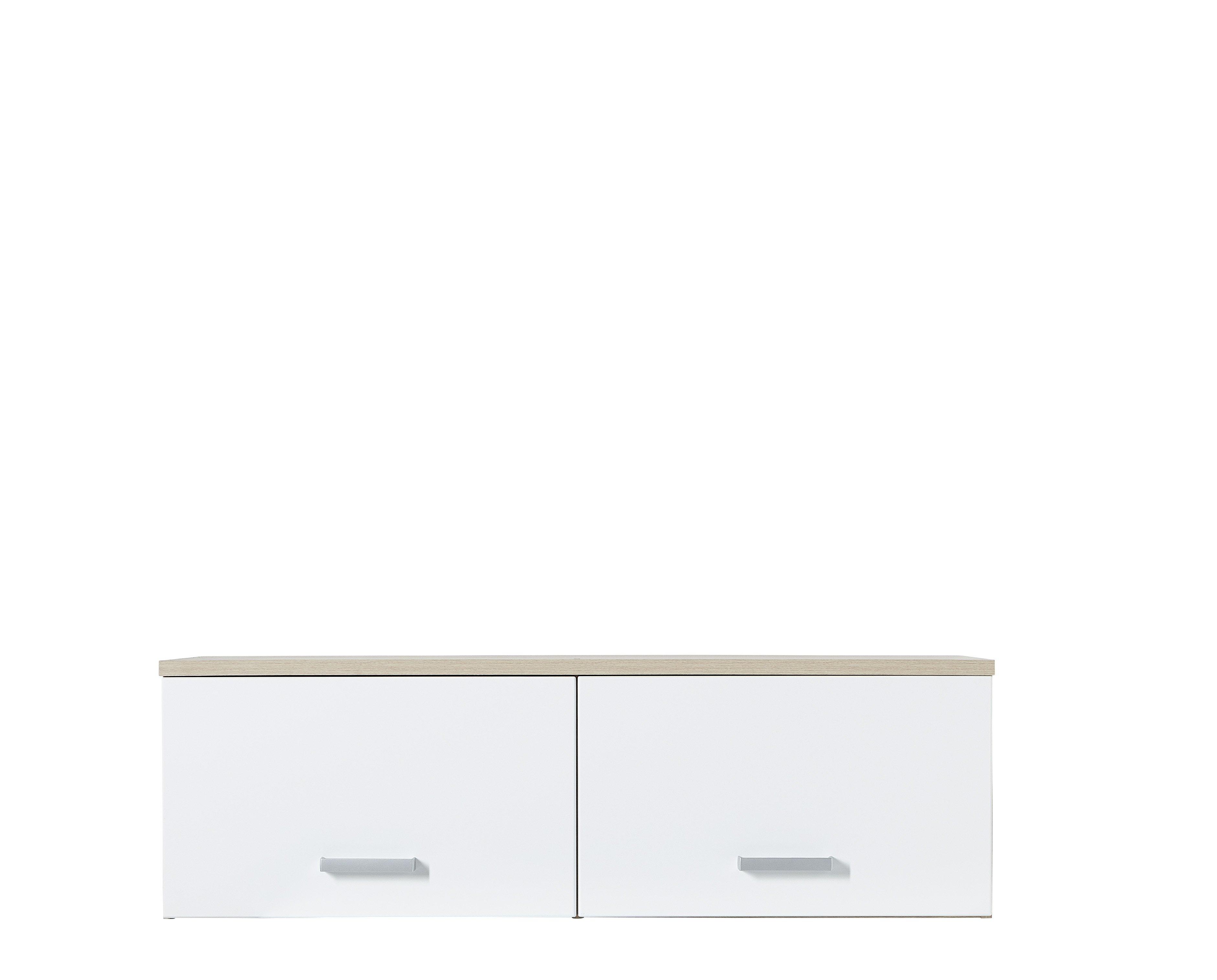Hängeelement Arkona, weiß, braun, Eiche, Holz, Beschichtete Spanplatte