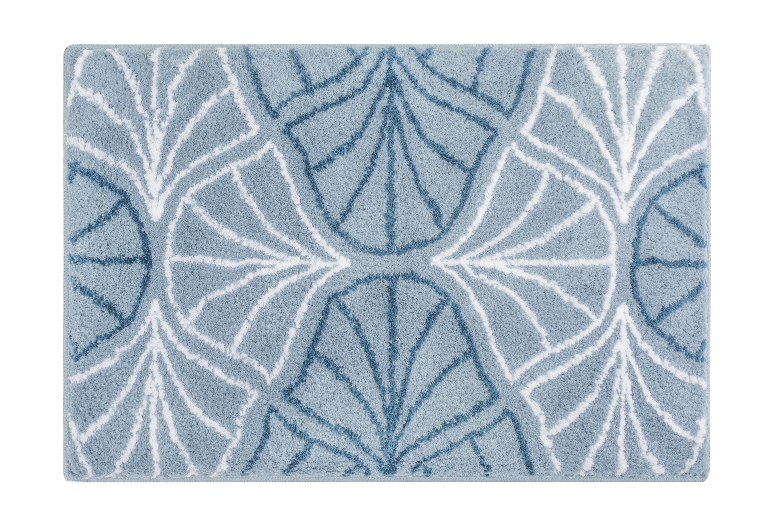 Badteppich Bloom Stahlblau B:60cm