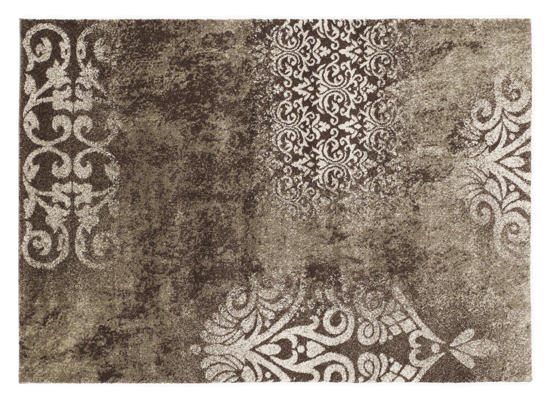 moderner Designer Teppich MONTE TREND braun