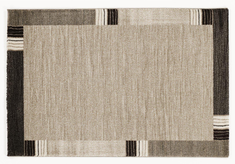 moderner Designer Teppich Öko-Tex CASTLE FLORA beige-braun