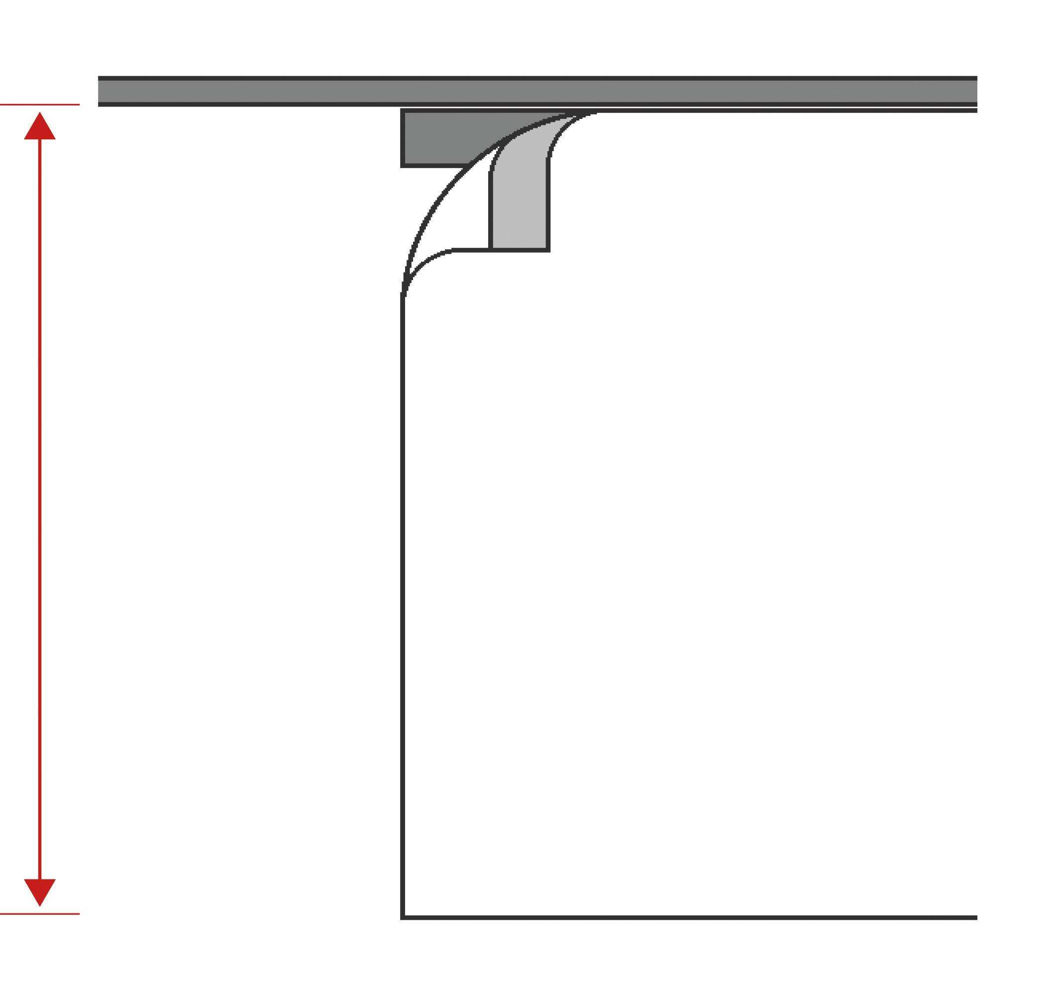 Schiebevorhang mit Alupaneelwagen CARLINA-S-60 grau