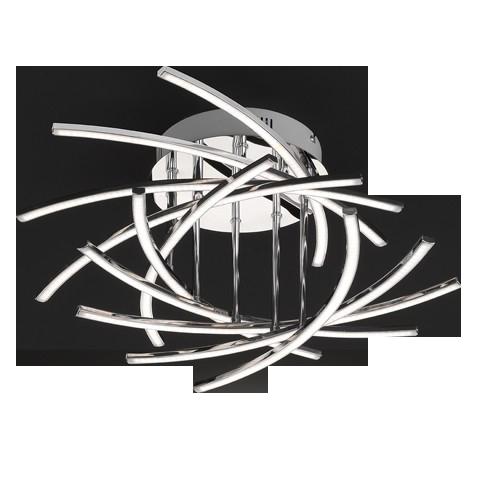 Deckenleuchte Cross, Metallfarben | Weiß