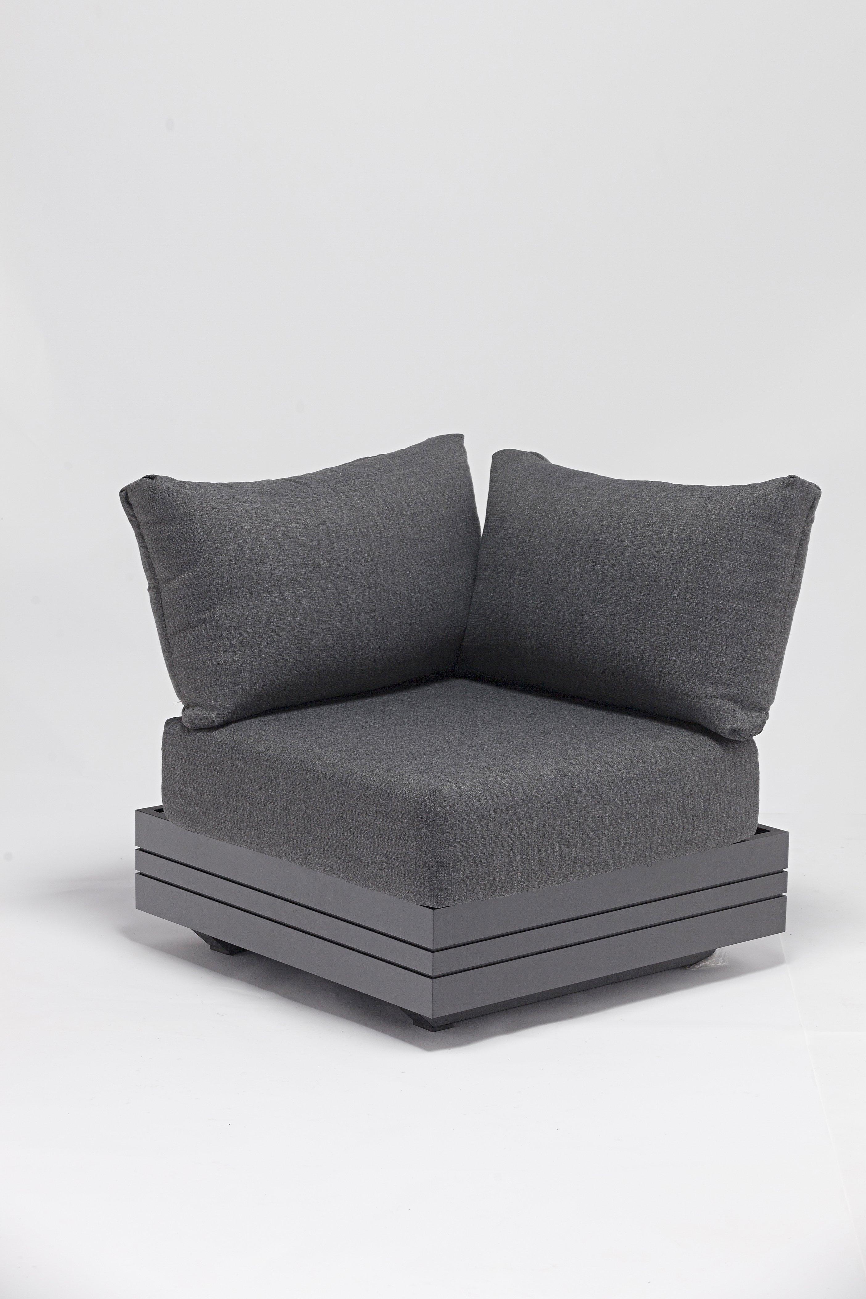 Sofaecke 3-Sitzer, Alu-Gestell