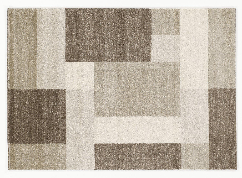 moderner Designer Teppich VILLA LIMA beige-braun