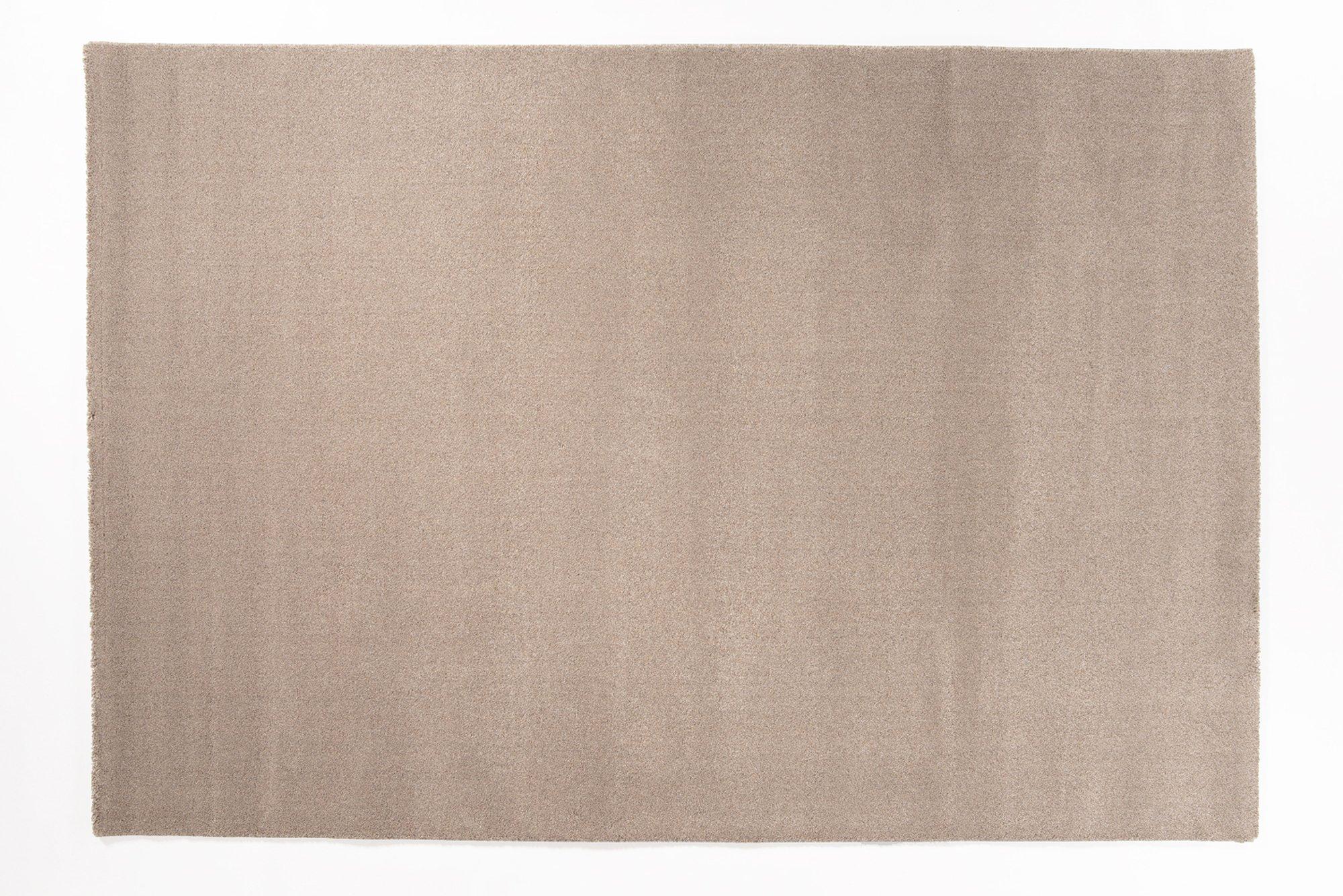 moderner Designer Teppich LOUVRE MELANGE taupe