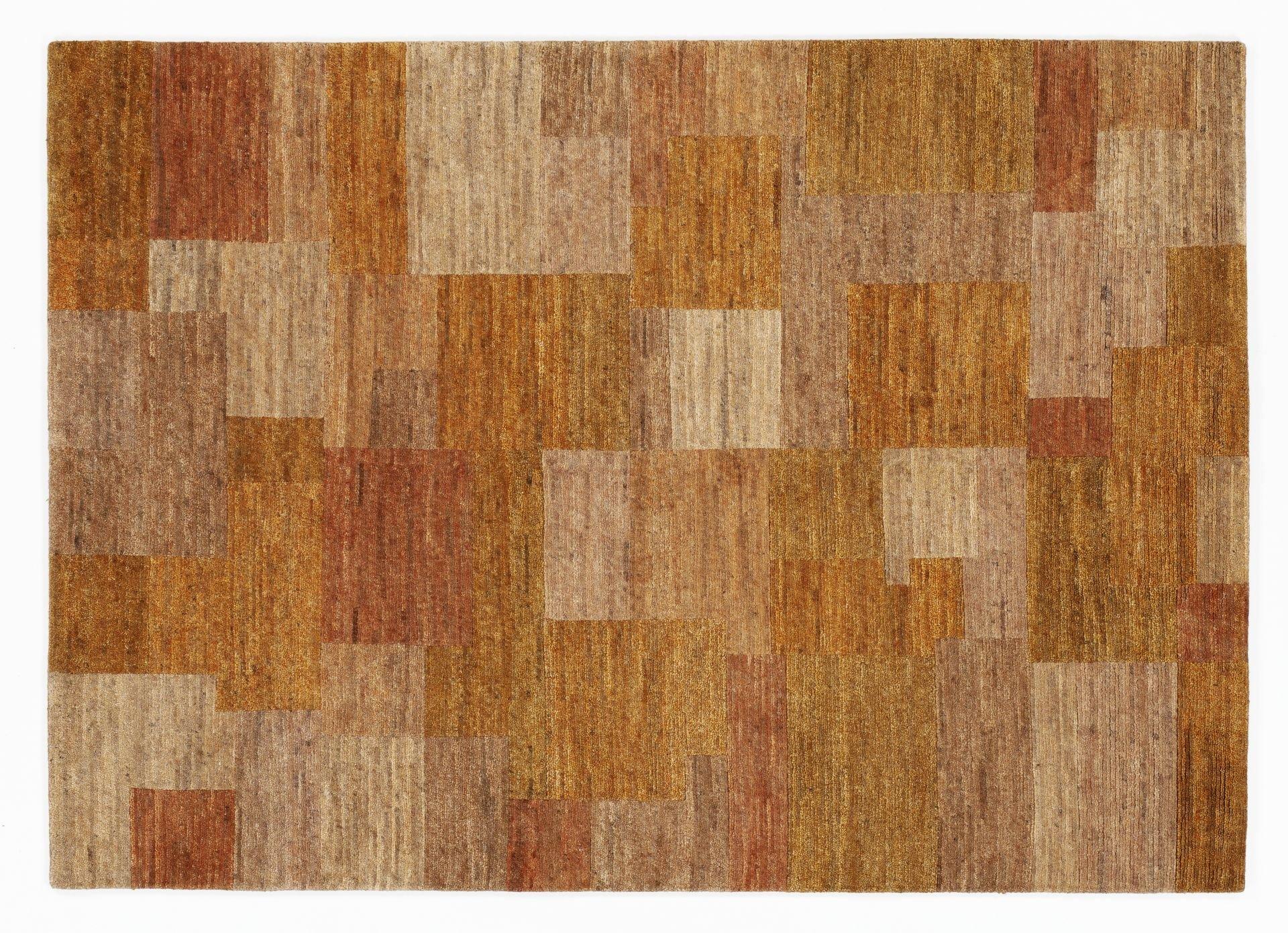 echter original handgeknüpfter Nepal-Teppich ELEGANT NEW LIMA orange