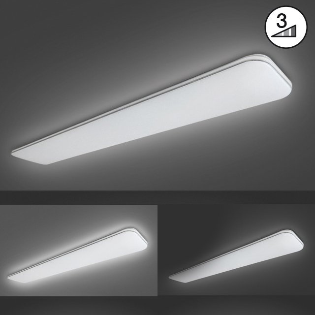 Deckenleuchte Aldo  B: 18,0 cm | Ausladung Decke: 6,0 cm | 1 x LED 48,0 W | über Wandschalter in 3 Stufen dimmbar,, 3000 K | 5100  lm