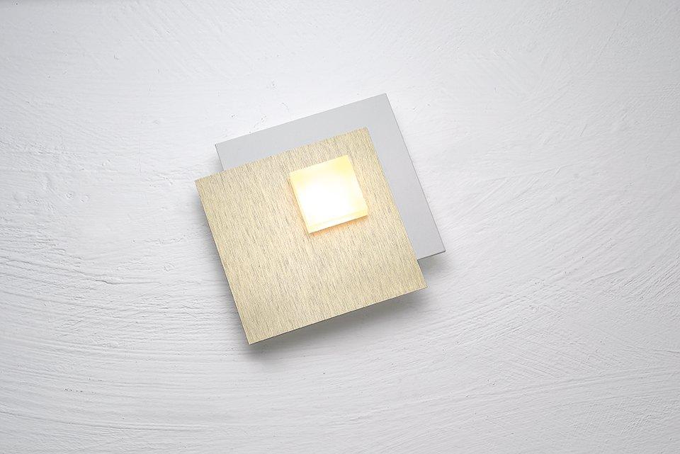 Deckenleuchte PIXEL 2.0, weiss gepulvert, Aluminium geschliffen
