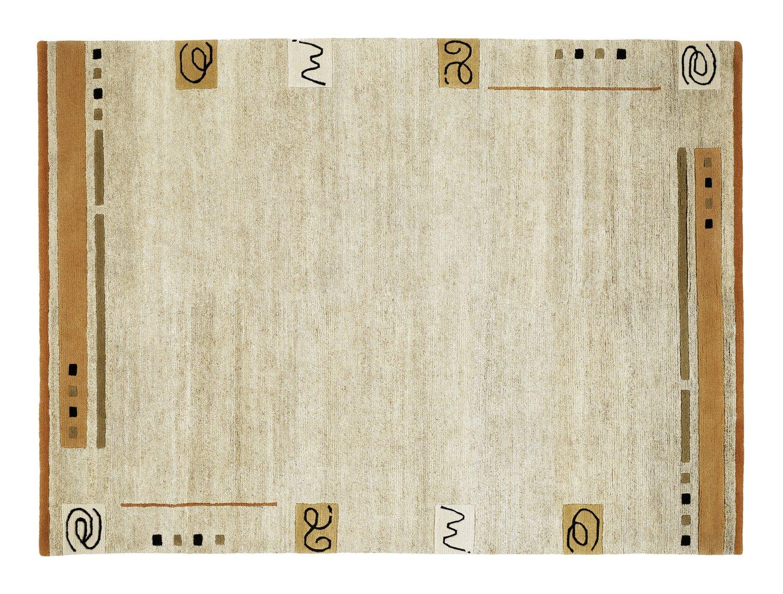 echter original handgeknüpfter Nepal-Teppich DAVINA MALPI hemp