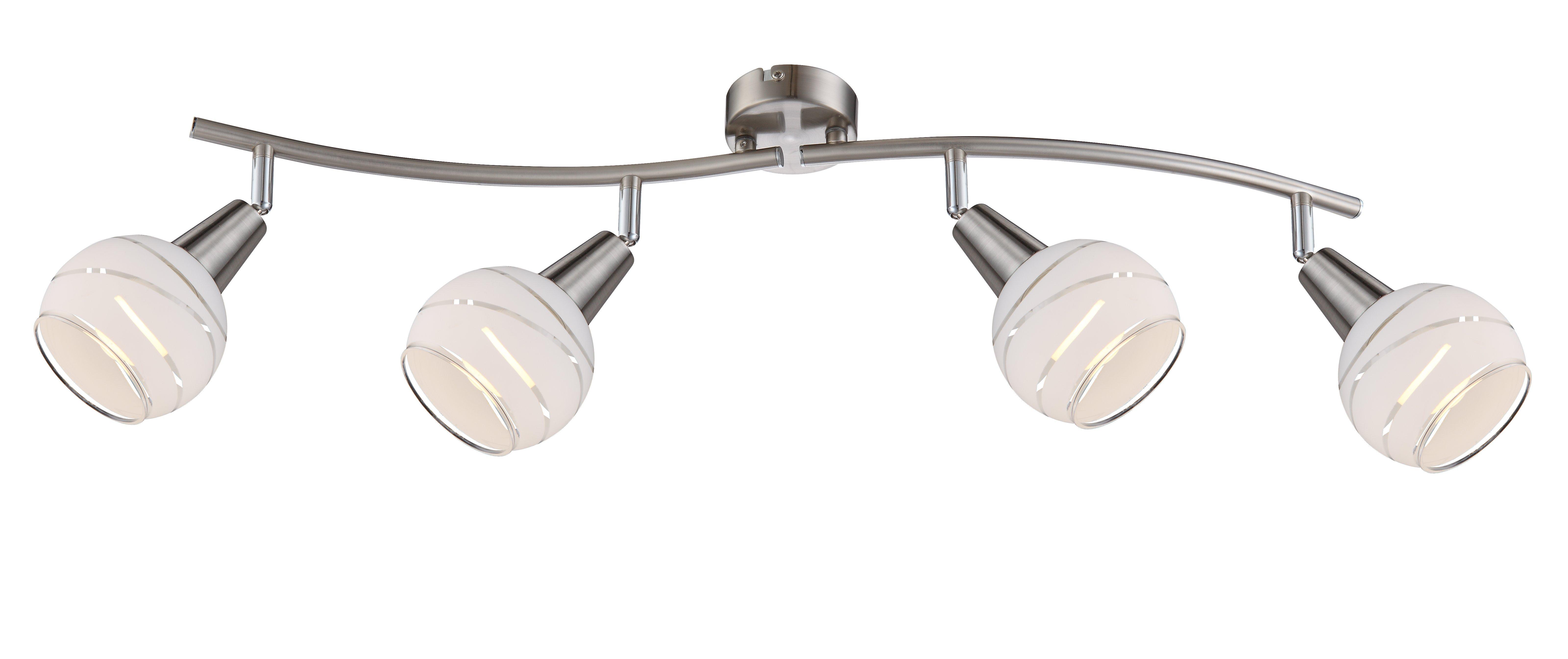 LED-Strahler, 4flg. T70_Metall, Metallfarben
