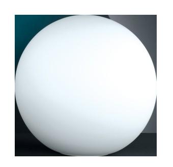 Tischleuchte Kugel opal, Weiß