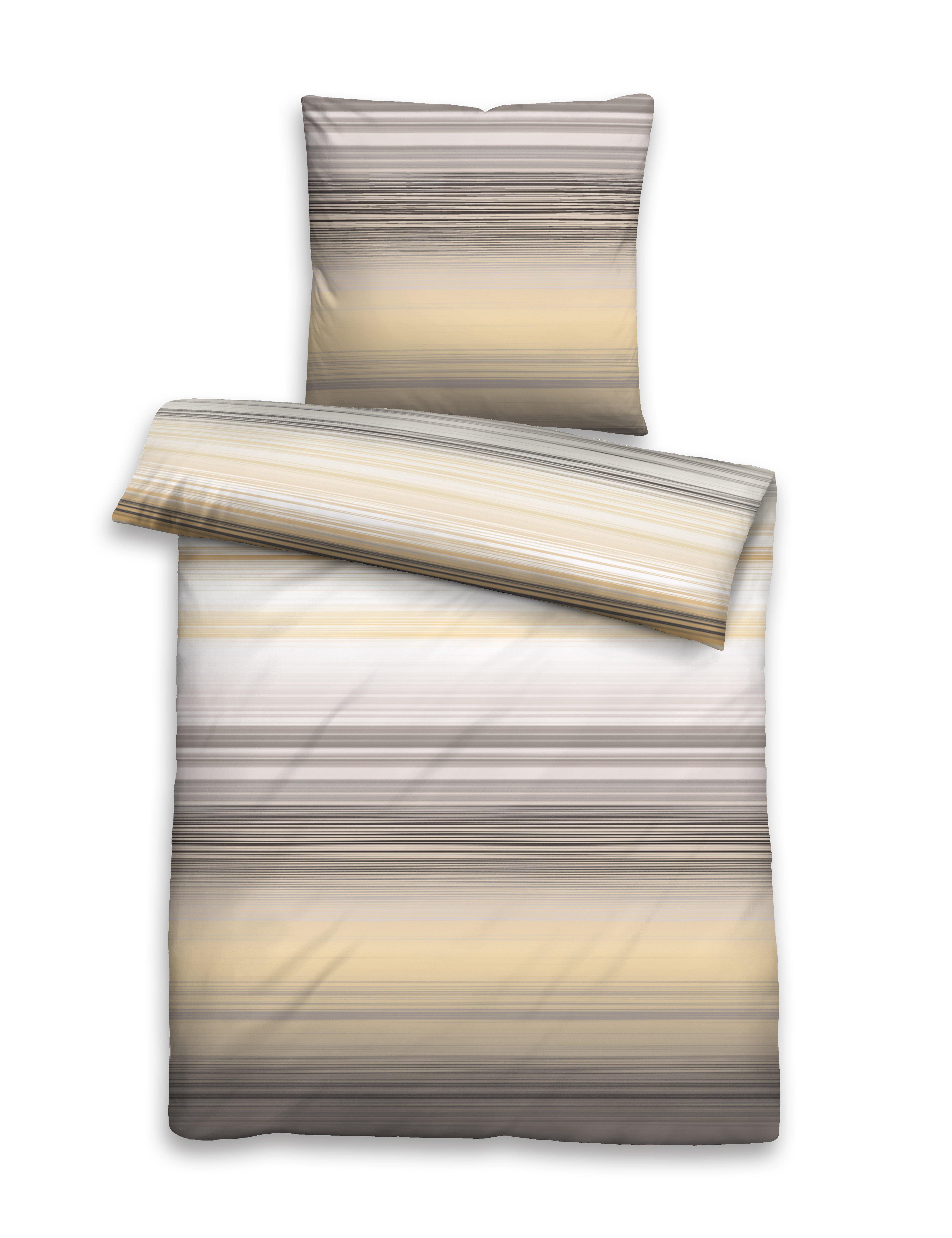 Edel Perkal Bettwäsche 155x220cm taupe