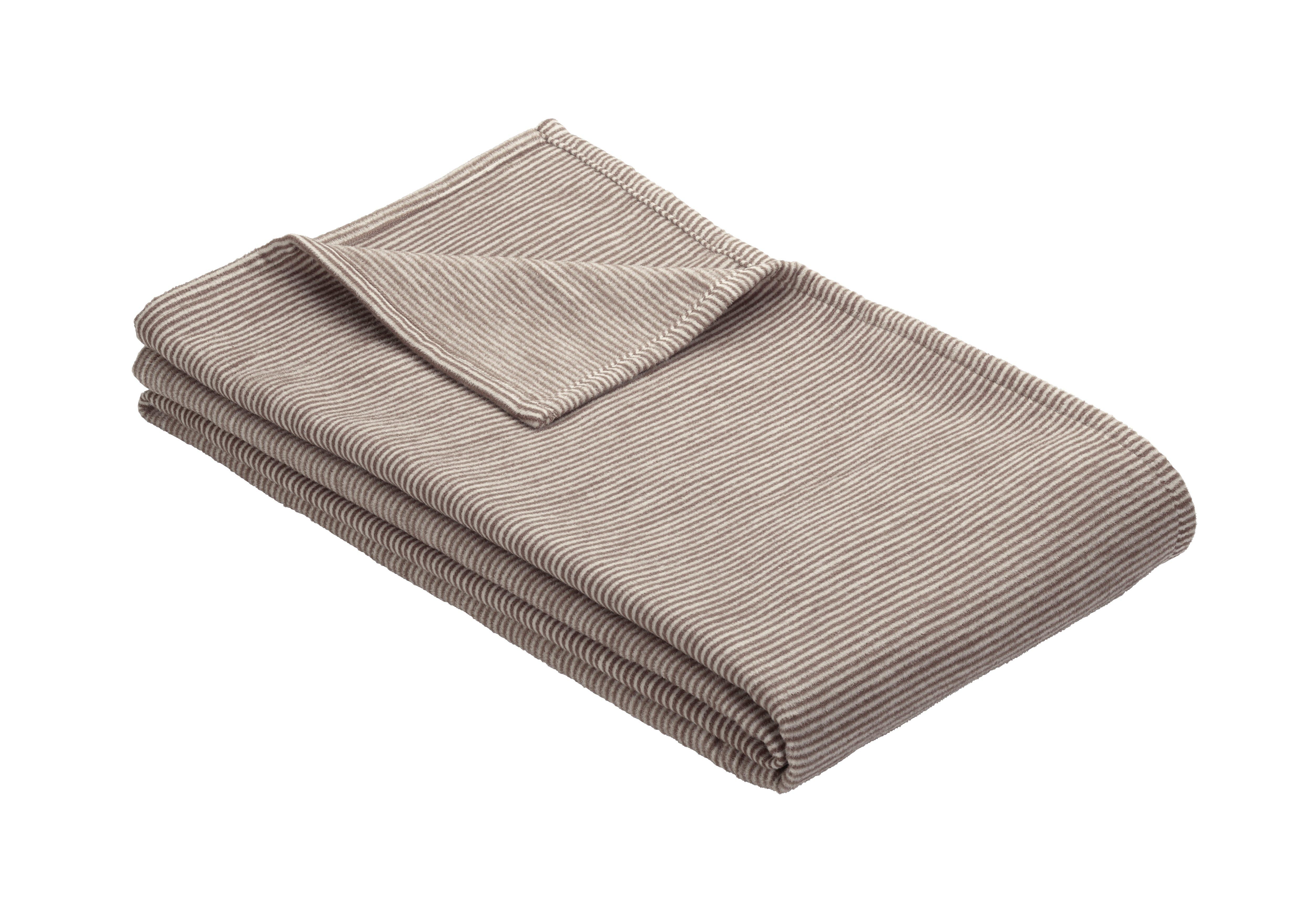 Jacq. Decke Turin mit GOTS-Zertifikat Braun 140x200 cm