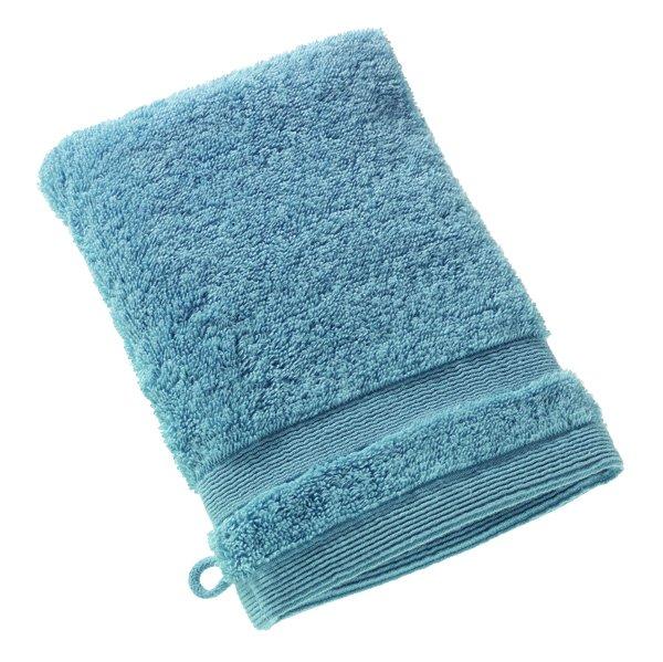 Waschhandschuh, 16x21cm, Blau